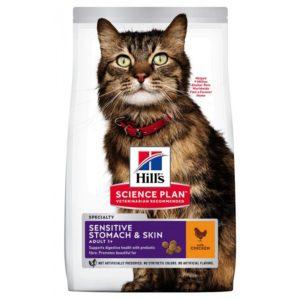 Hill's Science Plan Adult Sensitive Stomach - корм для кошек с чувствительным пищеварением